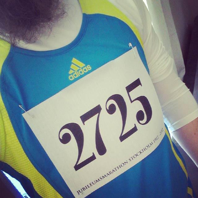 Startnummer 2725 Jubileumsmarathon