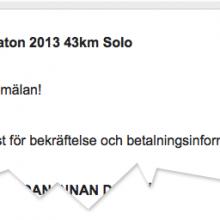 Anmälan AXA Fjällmaraton 2013