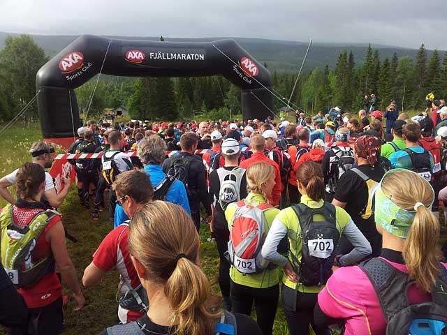 Starten AXA Fjällmaraton 2012