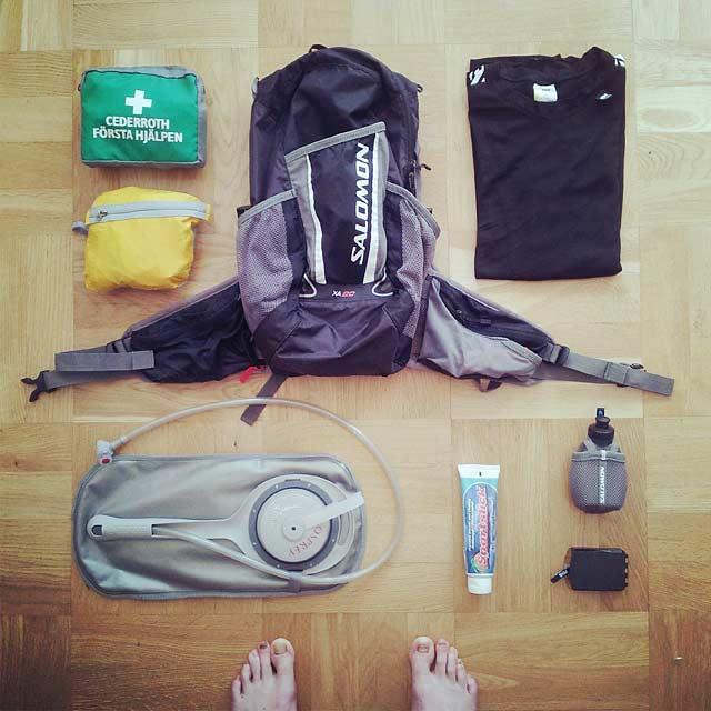Utrustning för AXA Fjällmaraton