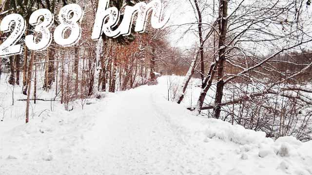 Februari 2013: 238 km löpning