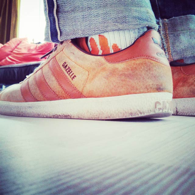X-Socks och Adidas Gazelle