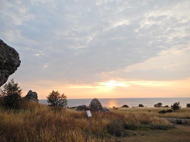Solnedgång Hoburgen