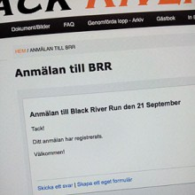 Anmälan Black River Run