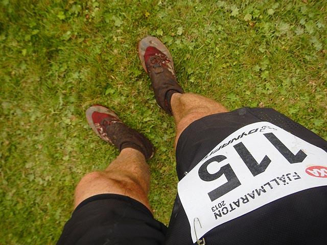 I mål, AXA Fjällmaraton