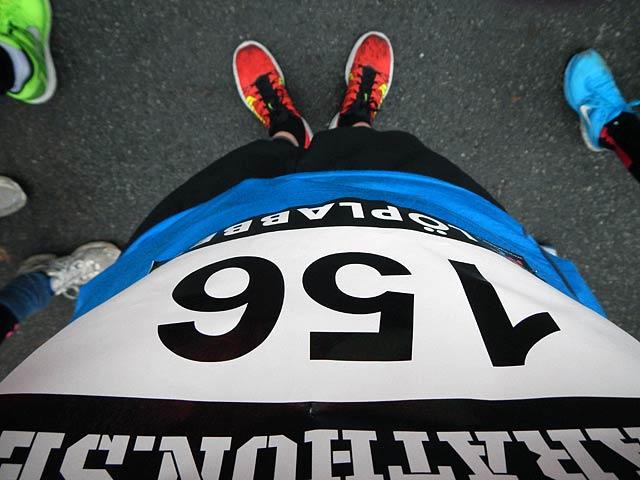 Startnummer 156 Vintermarathon