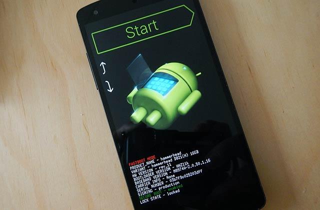 Nexus 5 Android error