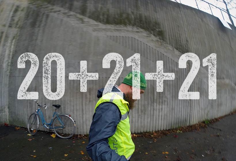 Löpning 20+21+21 km