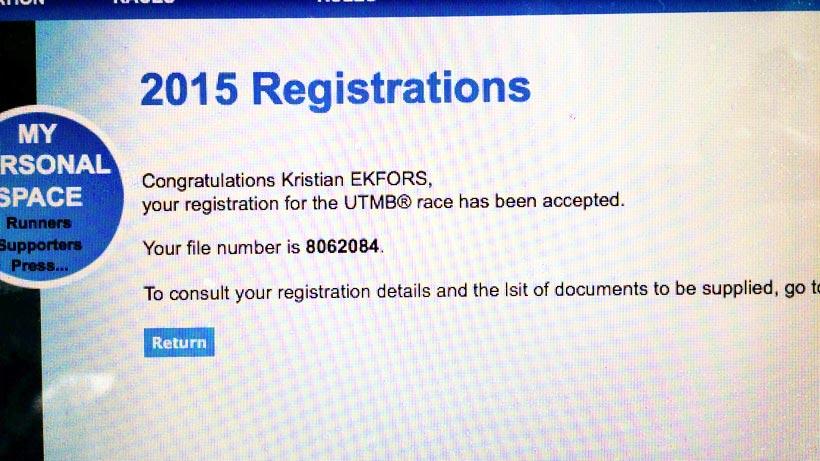UTMB pre-registration 2015