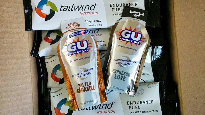 GU Energy Gel och Tailwind Nutrition