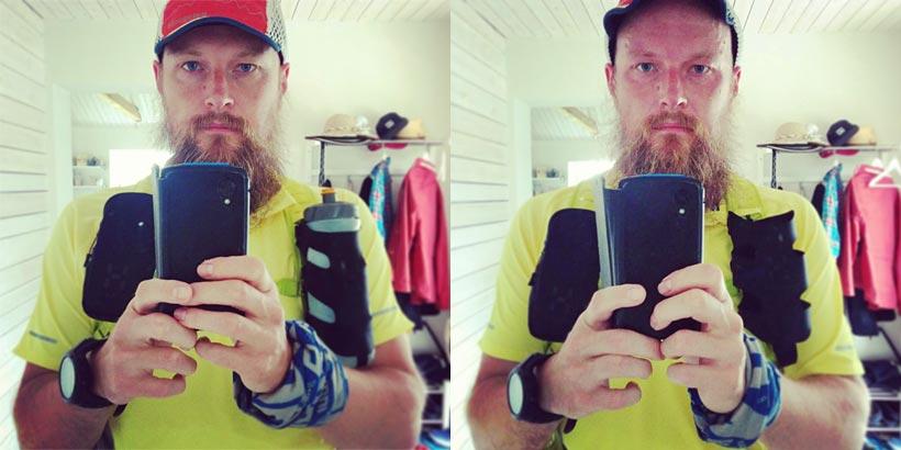 Före och efter löpning
