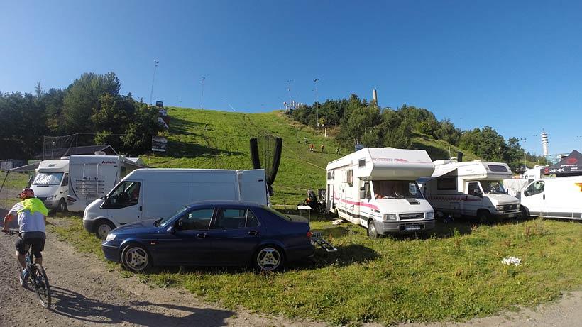 Camping i  Hammarbybacken