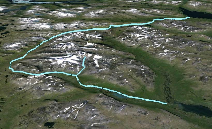 Karta: Tierra Arctic Ultra 120 km