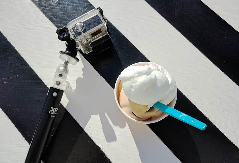GoPro och glass