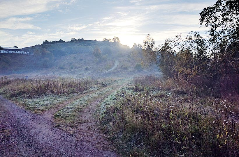 Oktobermorgon vid Högdalstoppen