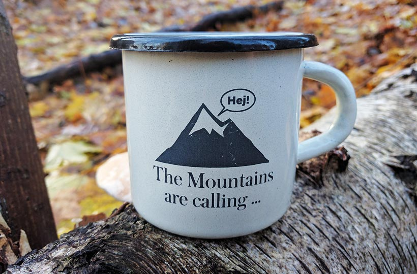 The mountains are calling-mugg