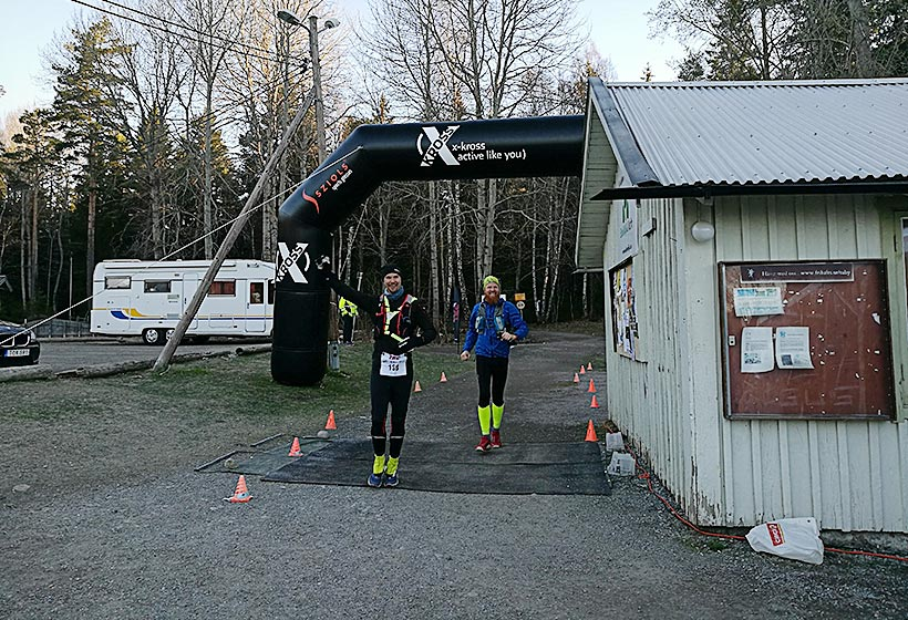 Anders N och Johnny H under TEC 100 miles 2017