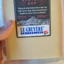 Äta Gruyere